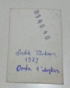 Sadık Türkmen1 (1973, Orta 1'deyken, 13 yaşında)